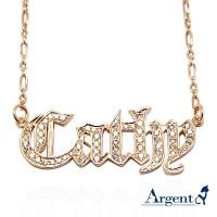 名字項鍊,滿鑽項鍊