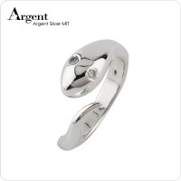 蛇戒指,純銀