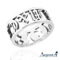 羅馬戒指,925純銀,