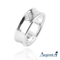 925純銀,弧型戒指