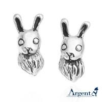 兔子耳環,925純銀