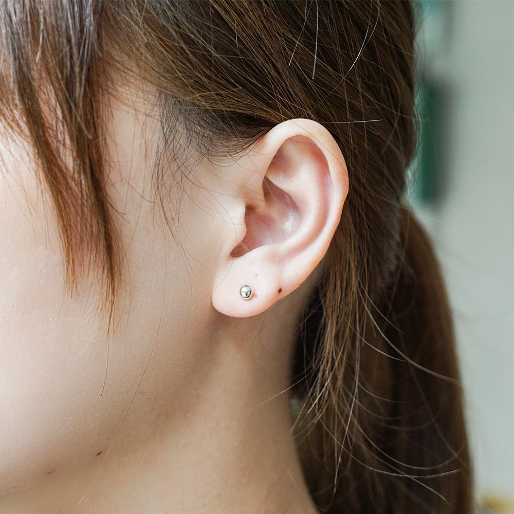 圓珠(小)造型純銀耳環推薦|925銀飾