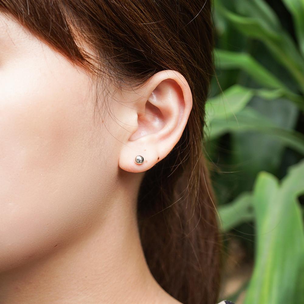 圓珠(中)造型純銀耳環推薦|925銀飾