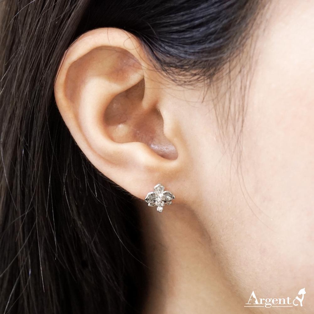 蘭花耳針純銀耳環推薦|925銀飾