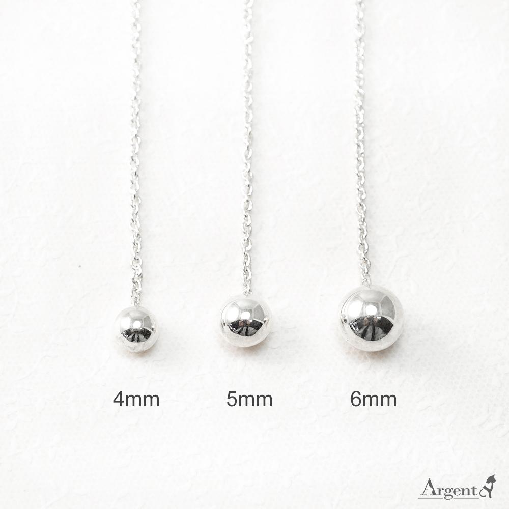 流蘇圓珠(大/中/小)造型純銀耳環推薦|925銀飾