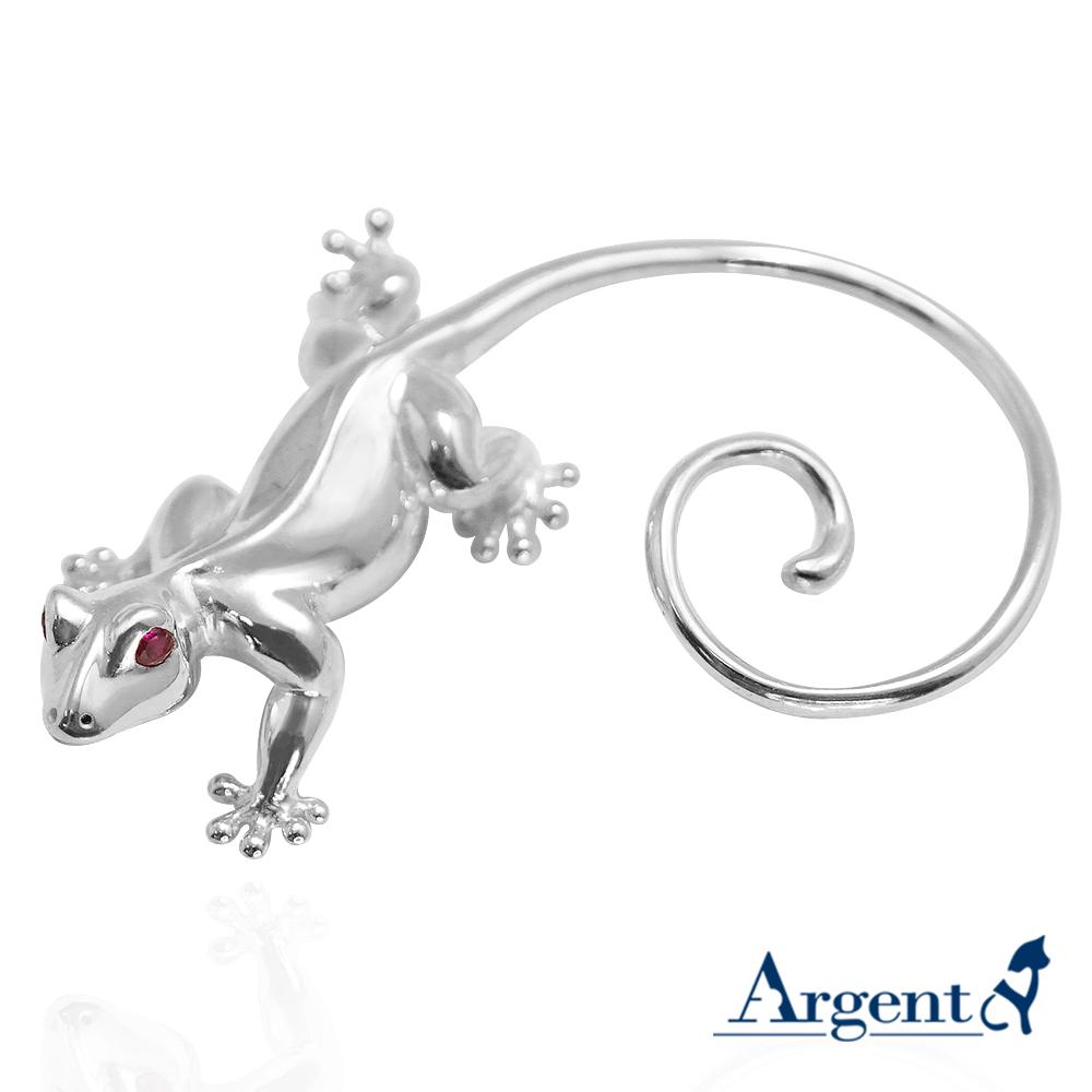 愛心壁虎可愛造型耳掛純銀耳環也可當擺飾銀飾