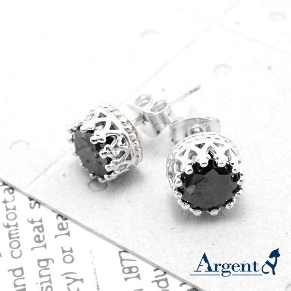 圓鑽皇冠造型純銀耳環推薦|925銀飾
