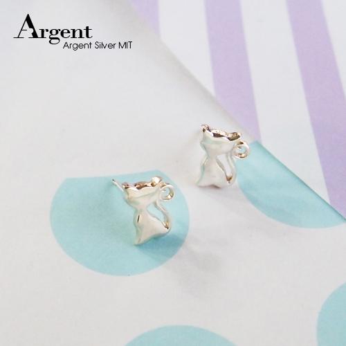 小貓咪簡約造型純銀耳環推薦|925銀飾