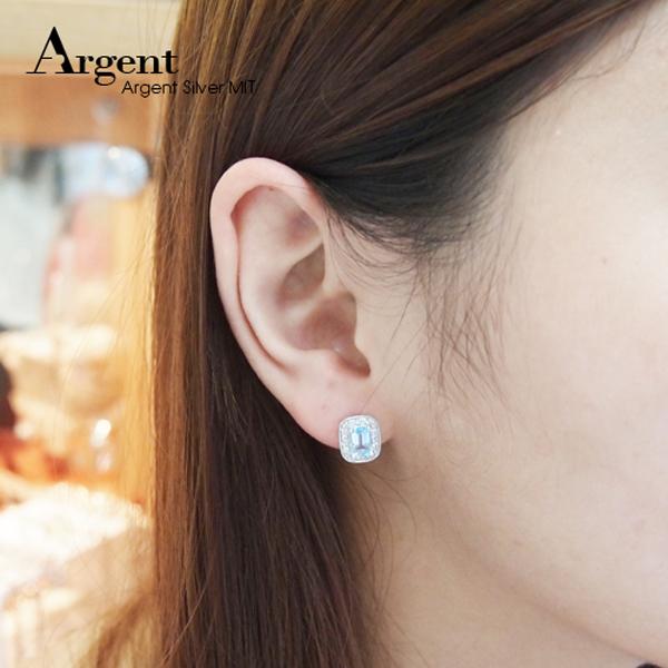 簡約寶鑽純銀耳針|銀飾推薦