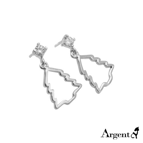 晶鑽聖誕樹造型耳針純銀耳環推薦|925銀飾