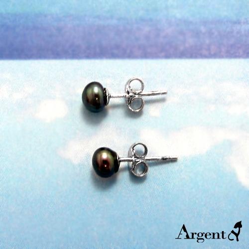 珍珠耳針造型純銀耳環推薦|925銀飾