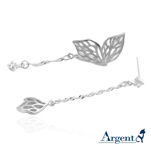 「翩翩」造型耳針純銀耳環推薦|925銀飾