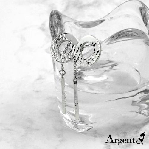 烙印情緣造型純銀耳環推薦|925銀飾