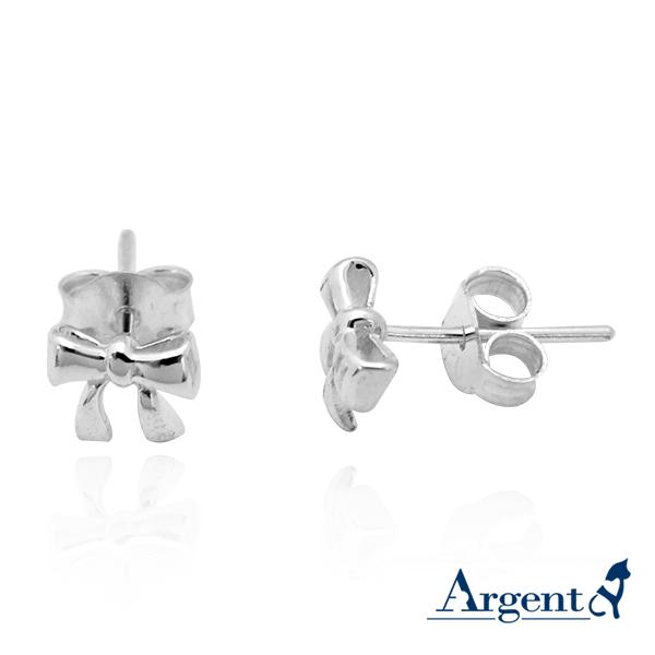 小蝴蝶结造型耳针纯银耳环推荐| 925银饰