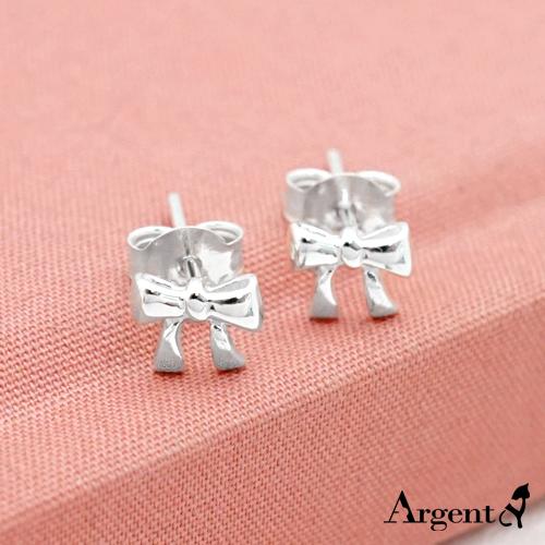 小蝴蝶结造型耳针纯银耳环推荐|925银饰
