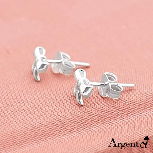 小蝴蝶結造型耳針純銀耳環推薦|925銀飾