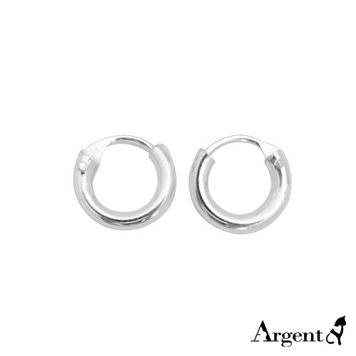 小素雅圆形耳针纯银耳环推荐|925银饰