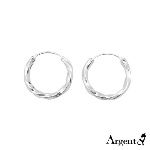 12/14mm小扭紋圓形純銀耳環推薦|925銀飾