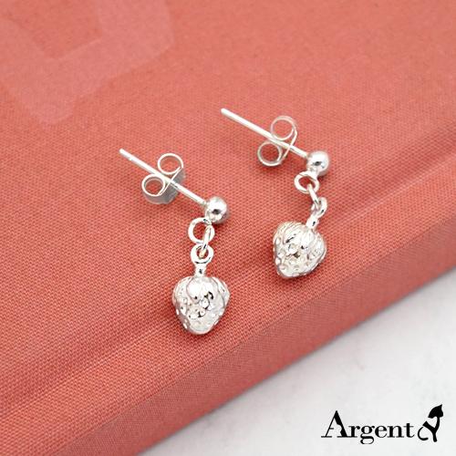 小草莓造型耳針純銀耳環推薦|925銀飾