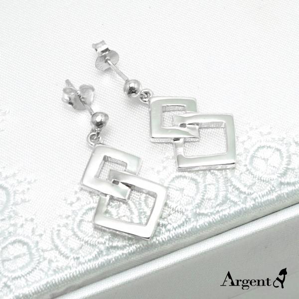 双菱造型耳针纯银耳环推荐|925银饰