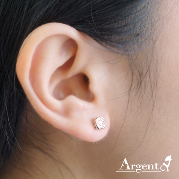 薔薇耳針純銀耳環推薦|925銀飾