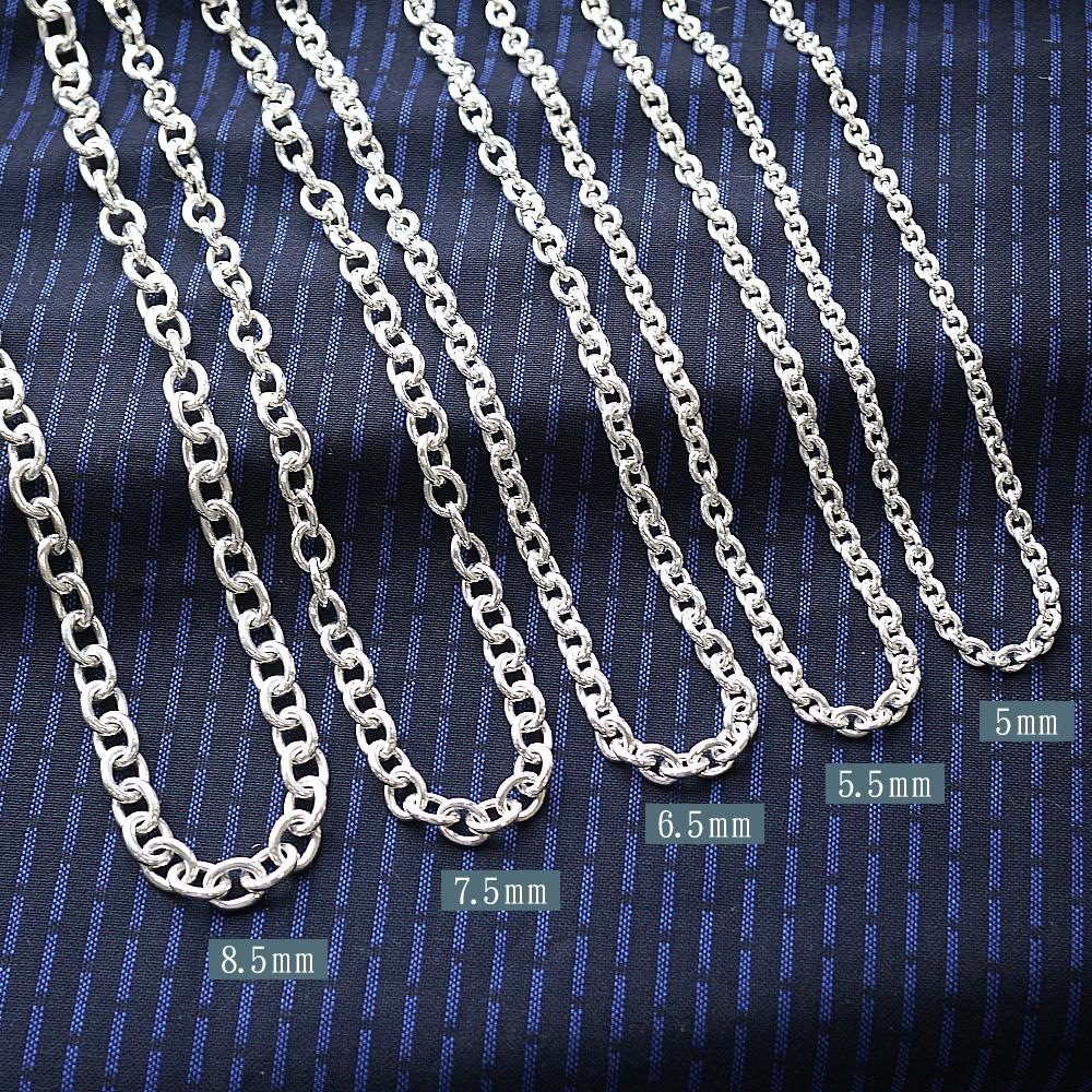 橢圓鍊純銀手鍊|925銀飾