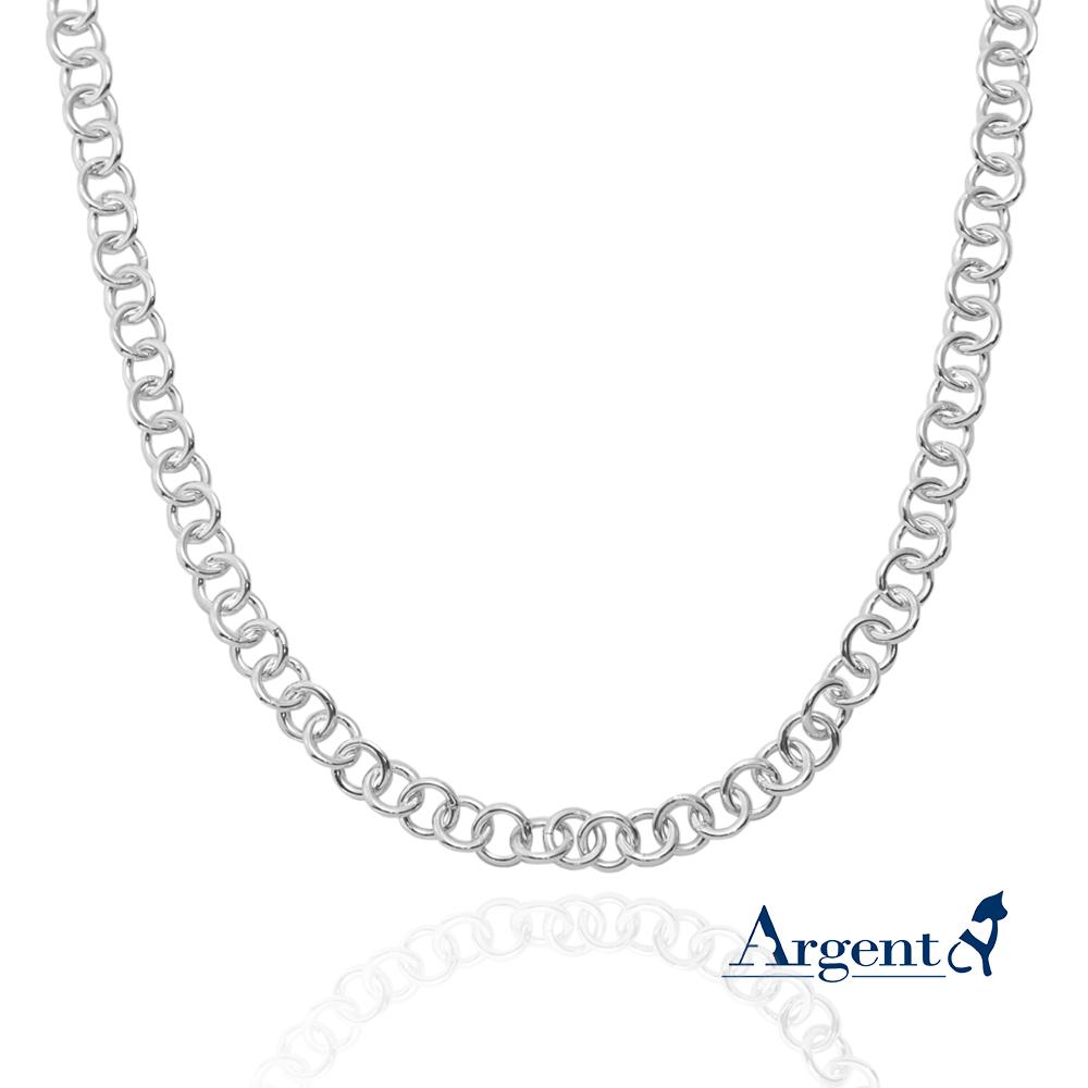 方格鍊/橢圓鍊4mm造型純銀項鍊銀飾|銀項鍊推薦