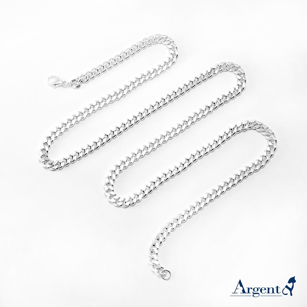 扁鍊5mm單條純銀項鍊銀飾