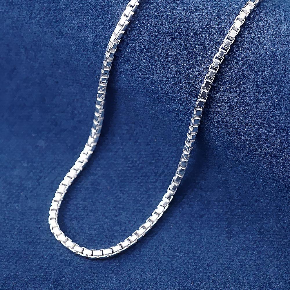 純銀單鍊-盒子鍊(3mm)