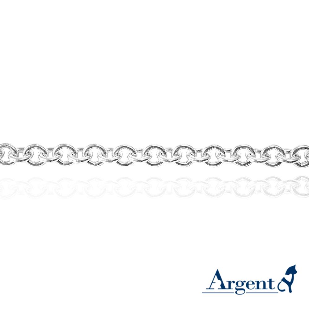 5mm 單鍊-手工鍊造型-小圓鍊|銀項鍊推薦