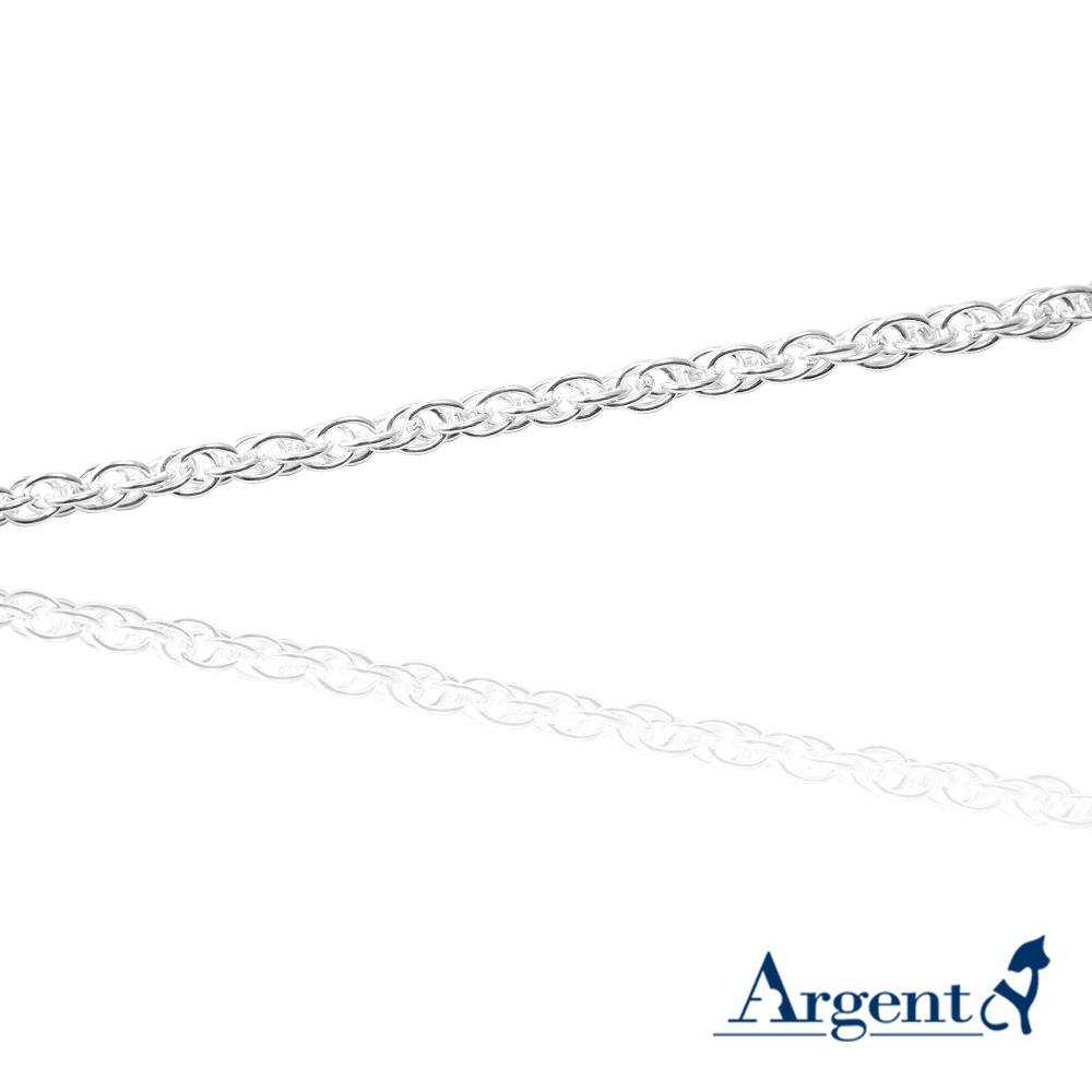麻花鍊4mm造型純銀項鍊銀飾|銀項鍊推薦