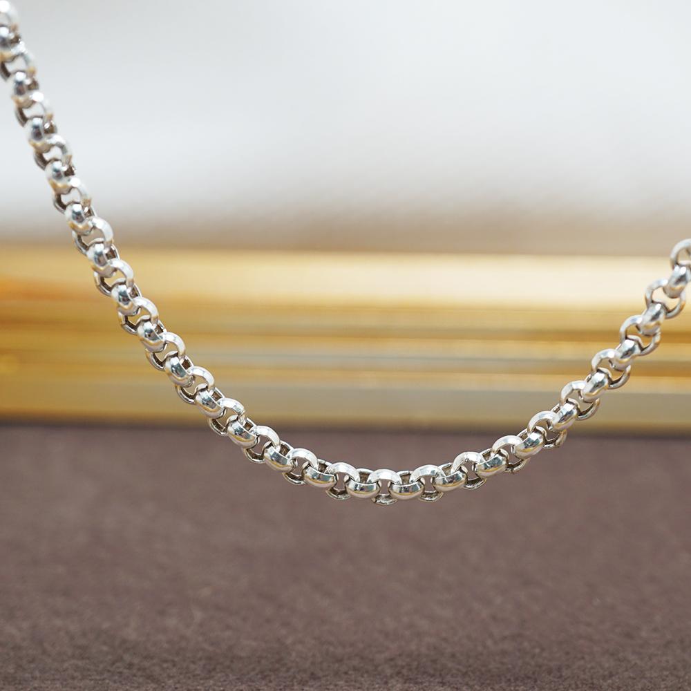 小圓鍊4mm造型純銀項鍊銀飾|銀項鍊推薦