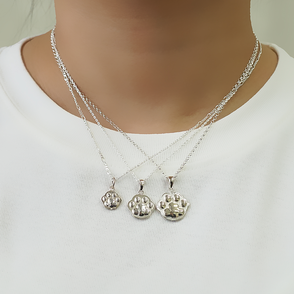 貓掌貓掌(大/中/小)純銀項鍊銀飾