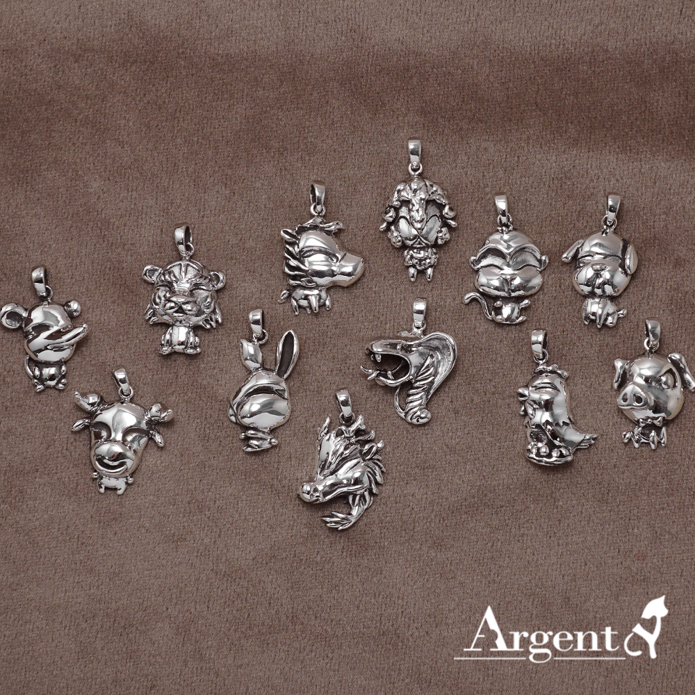 12生肖-全-造型雕刻純銀項鍊