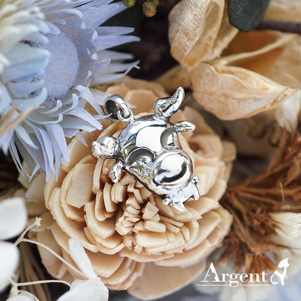 12生肖-牛造型雕刻純銀項鍊