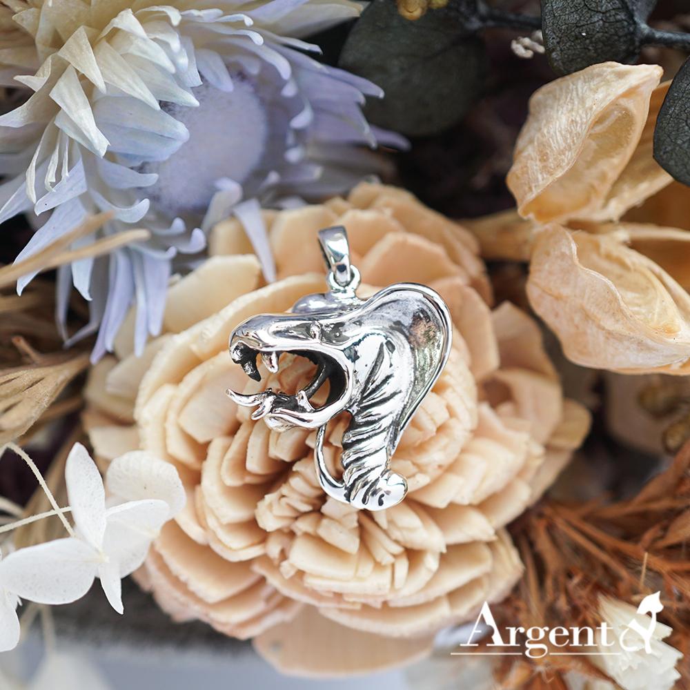 12生肖-蛇造型雕刻純銀項鍊