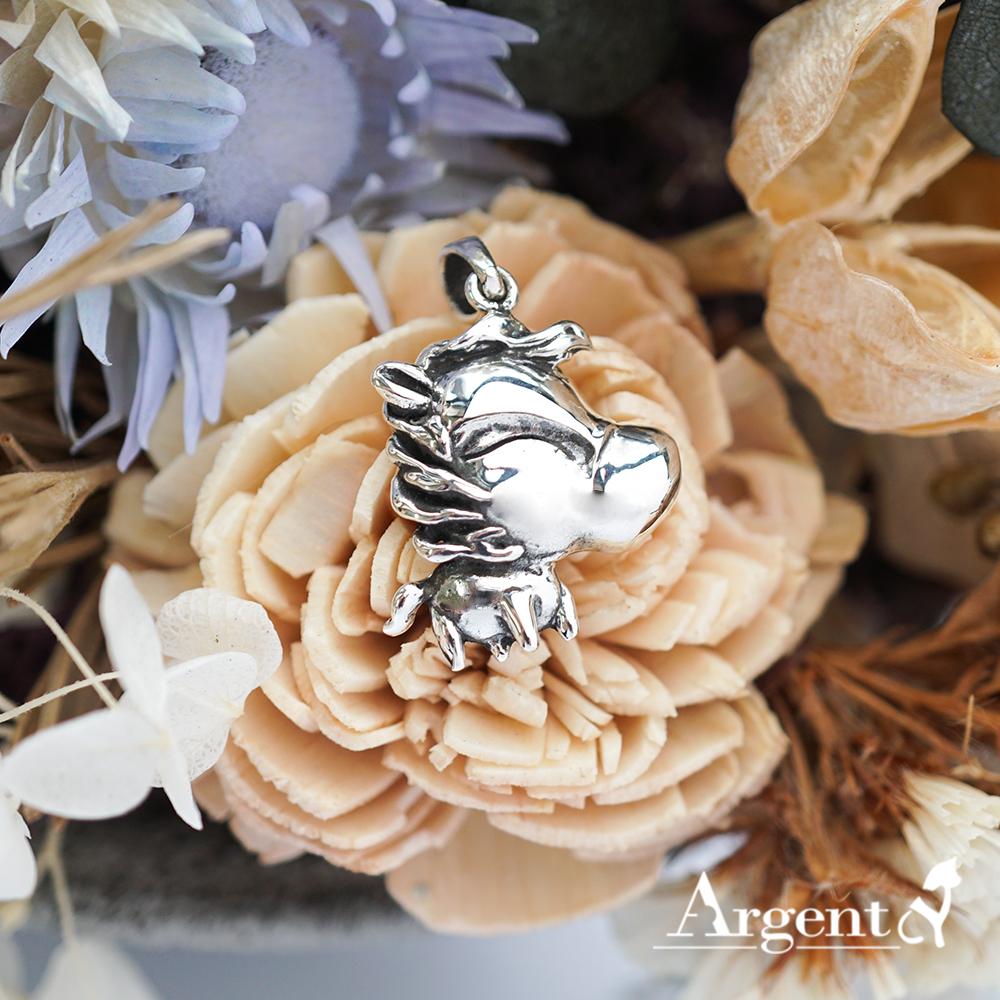 12生肖-馬造型雕刻純銀項鍊