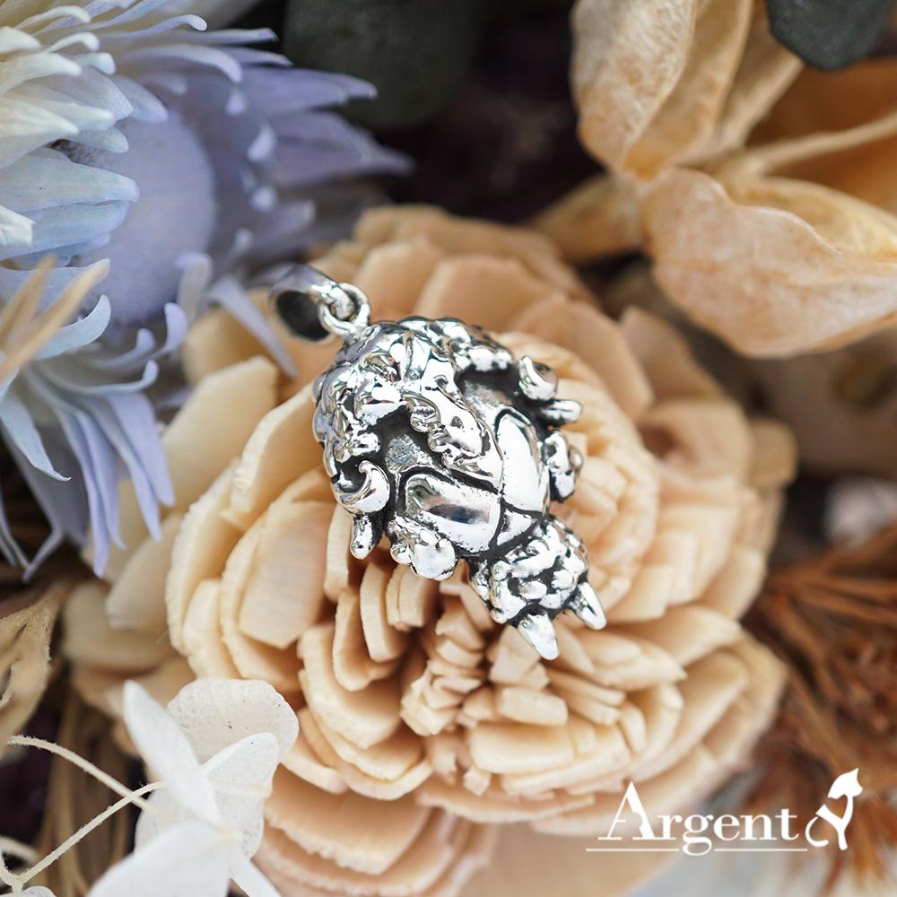 12生肖-羊造型雕刻純銀項鍊