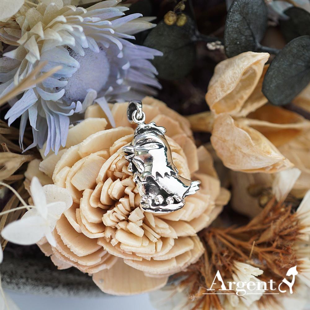 12生肖-雞造型雕刻純銀項鍊