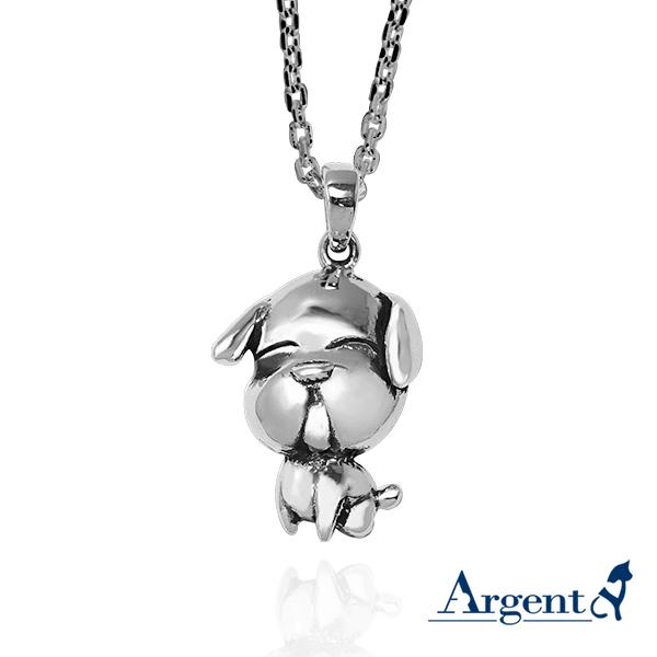 12生肖-狗造型雕刻純銀項鍊