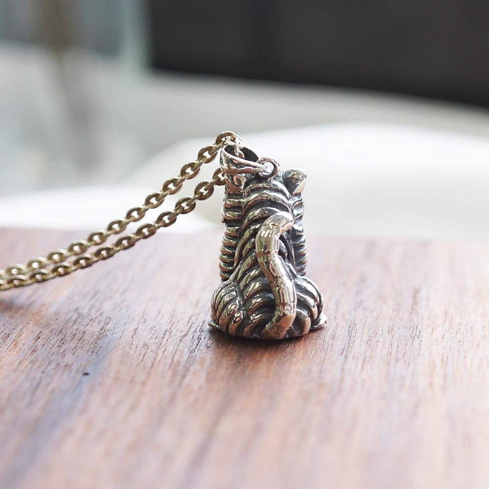 虎爺造型純銀項鍊|銀飾推薦