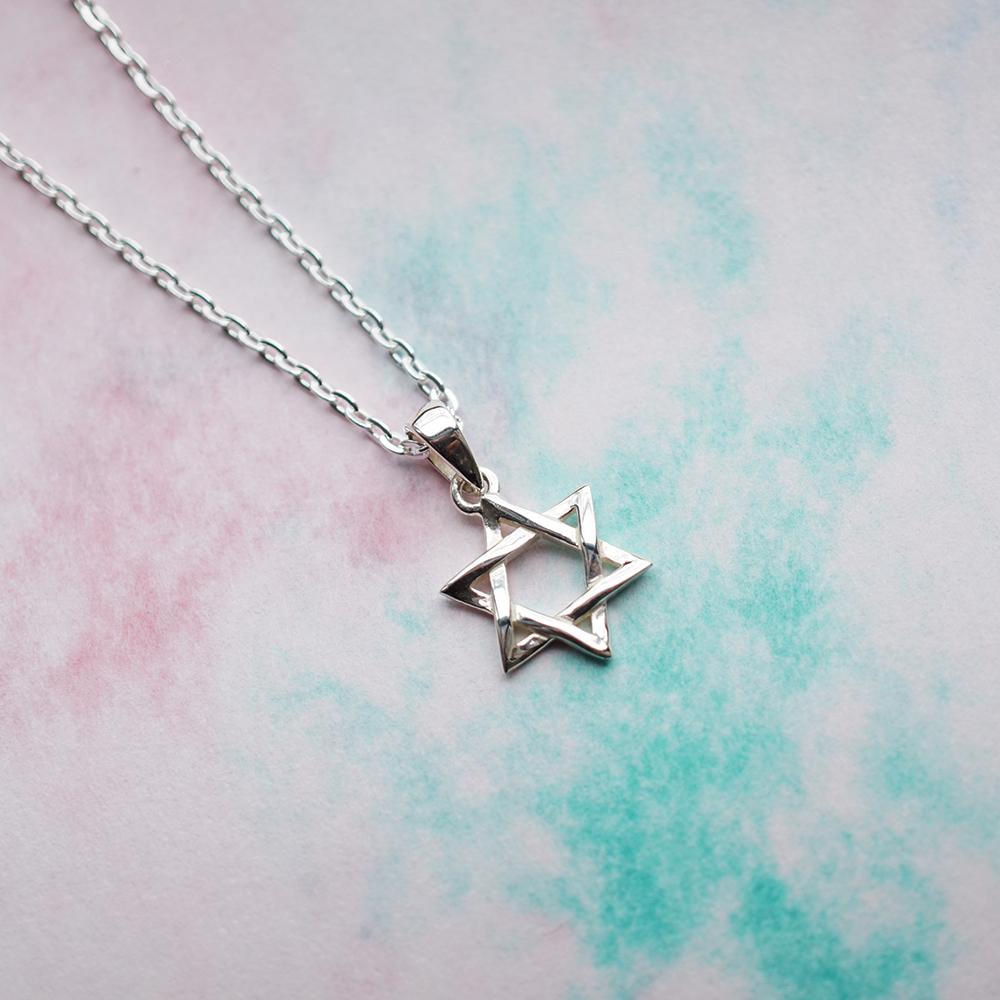 「六芒星(小)」造型純銀項鍊