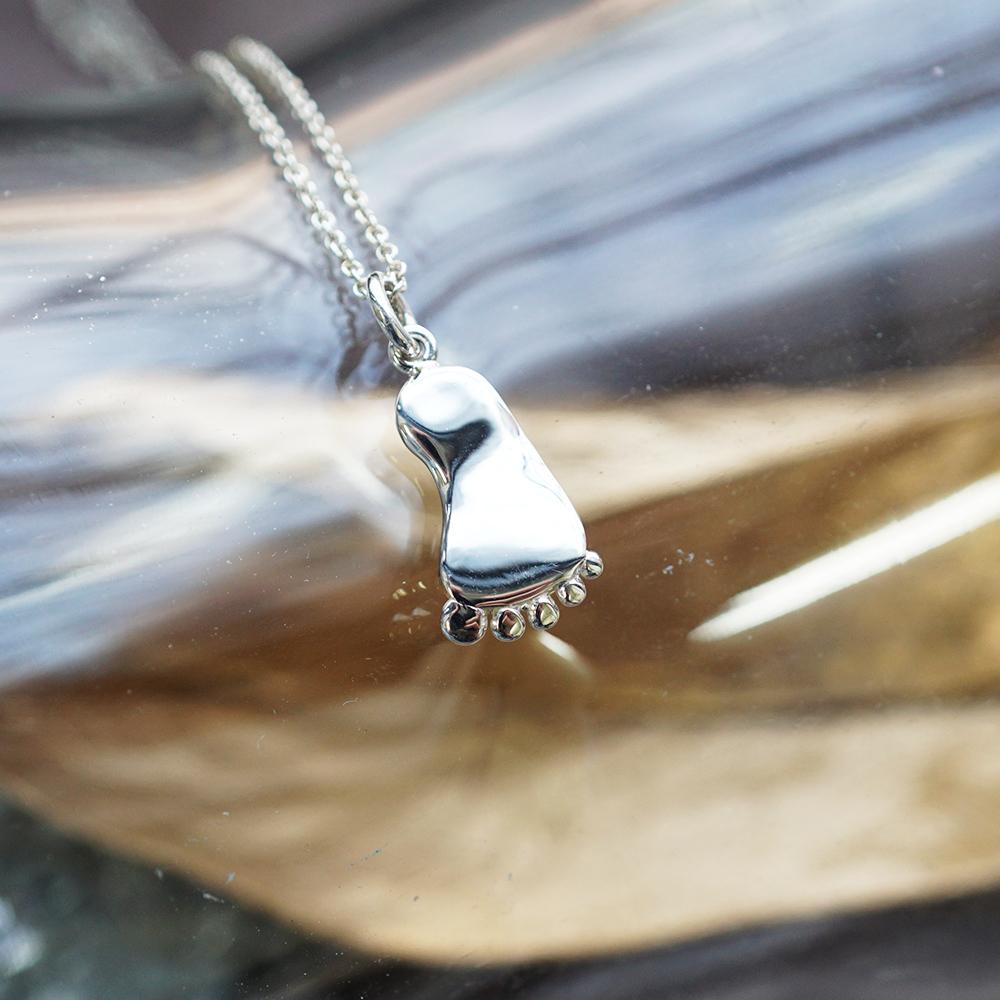 彌月禮物系列-BABY小腳ㄚ純銀項鍊