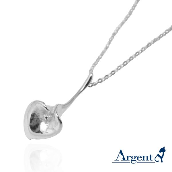「海芋」立體純銀項鍊銀飾