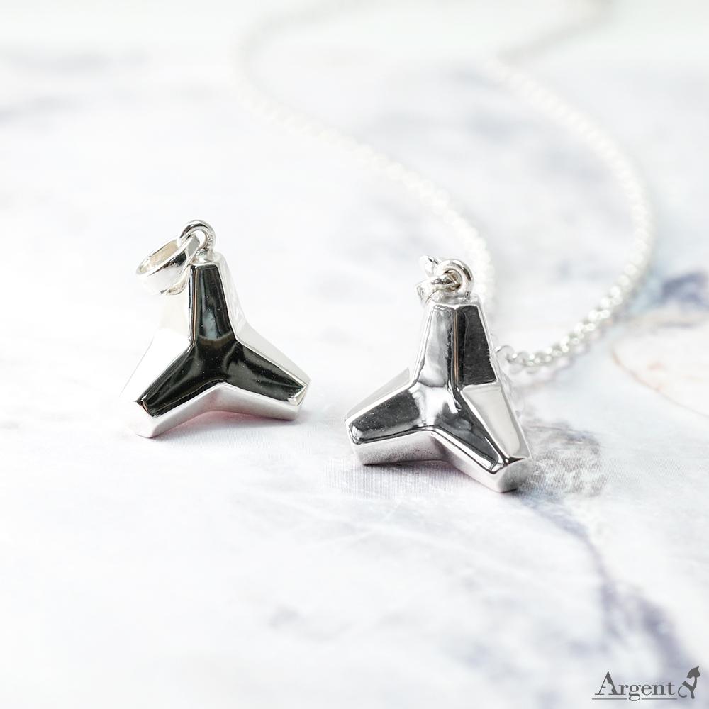 「消波塊」造型純銀項鍊