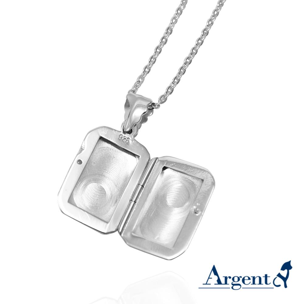 立體方塊(中.平)純銀項鍊銀飾|客製化項鍊(可代印放照片.可加購刻字)潘朵拉放照片系列