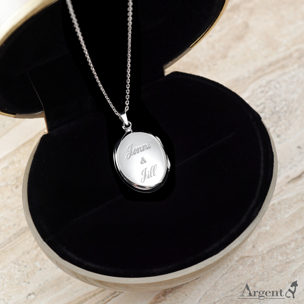 鵝卵石(小.平)蛋型橢圓鏡面純銀項鍊