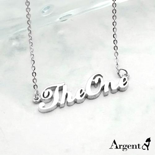英文名字篓空刻字项链银饰|名字项链客制化订做