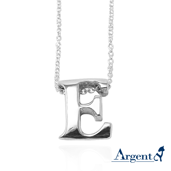 素雅立體英文字母純銀項鍊銀飾|銀項鍊推薦