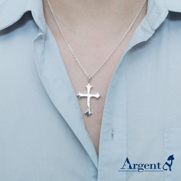 大聖十字造型純銀項鍊銀飾 銀項鍊推薦